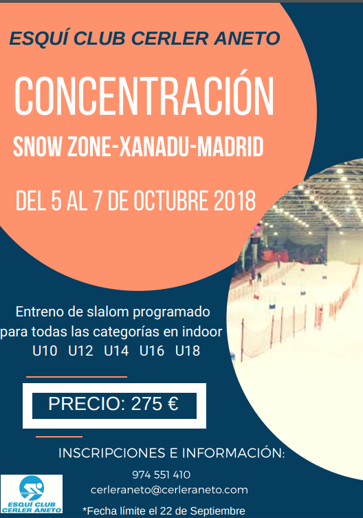 Póster Snow Zone - Xanadú, Madrid